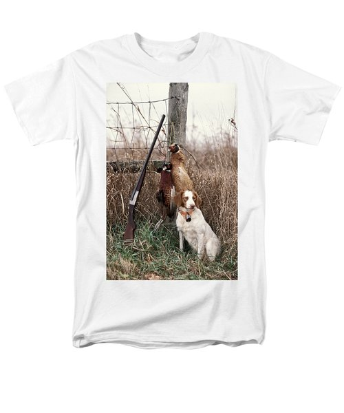 Brittany And Pheasants - Fs000757b Men's T-Shirt  (Regular Fit) by Daniel Dempster