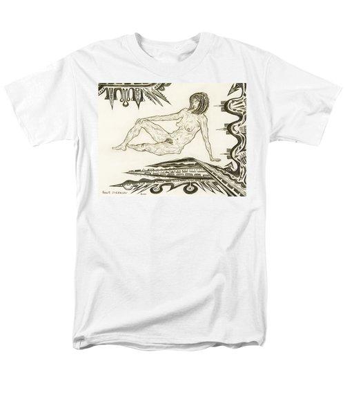 Live Nude 4 Female Men's T-Shirt  (Regular Fit) by Robert SORENSEN