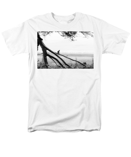 Monkey Alone On A Branch Men's T-Shirt  (Regular Fit) by Darcy Michaelchuk
