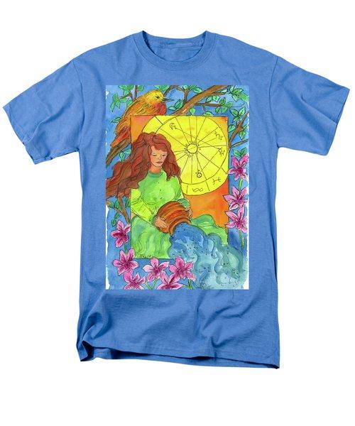 Men's T-Shirt  (Regular Fit) featuring the painting Aquarius by Cathie Richardson