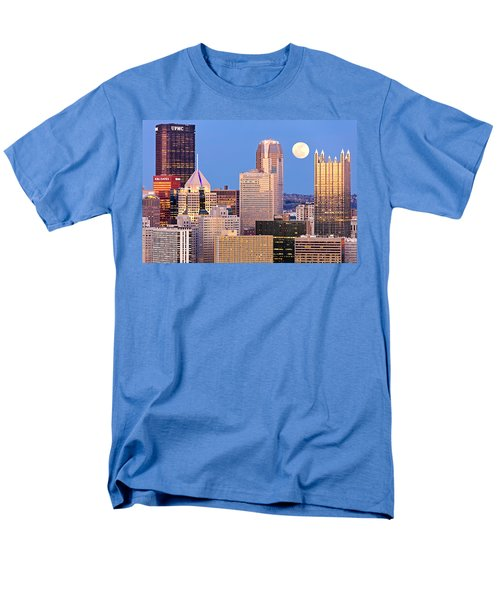 Moon Over Pittsburgh 2 Men's T-Shirt  (Regular Fit) by Emmanuel Panagiotakis