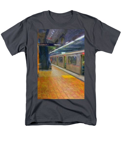 Men's T-Shirt  (Regular Fit) featuring the photograph Hollywood Subway Station by David Zanzinger