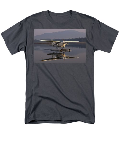 Reflections Of A Float Plane Men's T-Shirt  (Regular Fit) by Darcy Michaelchuk