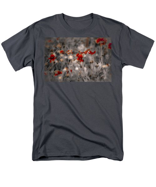 Wildflowers Of The Dunes Men's T-Shirt  (Regular Fit) by DigiArt Diaries by Vicky B Fuller