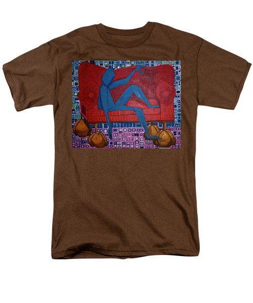 Men's T-Shirt  (Regular Fit) featuring the painting Am I Blue by Donna Howard