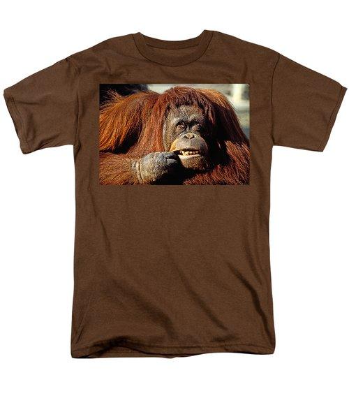 Orangutan  Men's T-Shirt  (Regular Fit) by Garry Gay