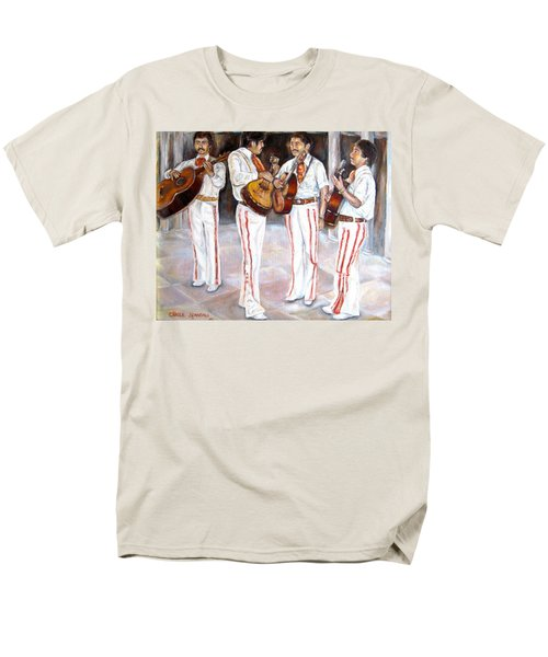 Men's T-Shirt  (Regular Fit) featuring the painting Mariachi  Musicians by Carole Spandau
