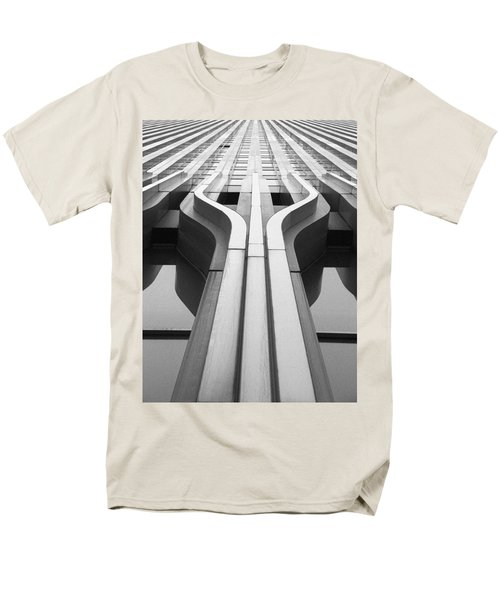Look Up A Twin Tower Men's T-Shirt  (Regular Fit) by Darcy Michaelchuk