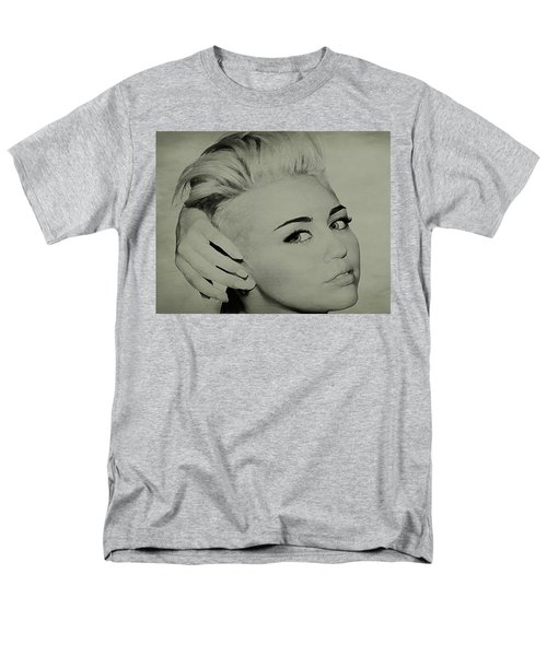 Men's T-Shirt  (Regular Fit) featuring the drawing Miley Cyrus  by Brian Reaves