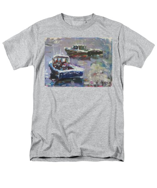 Men's T-Shirt  (Regular Fit) featuring the painting Two Lobster Boats by Robert Joyner