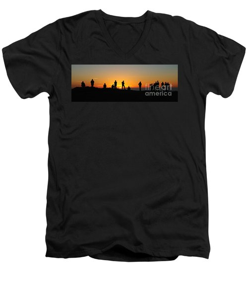 Panorama Everyone Likes A Sunset Men's V-Neck T-Shirt by Vivian Christopher
