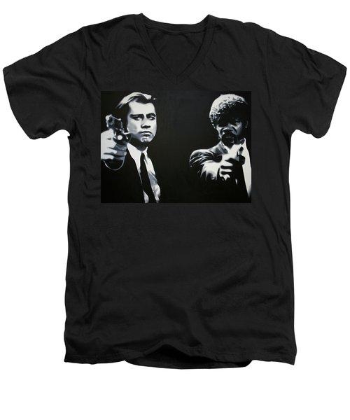 - Pulp Fiction - Men's V-Neck T-Shirt by Luis Ludzska