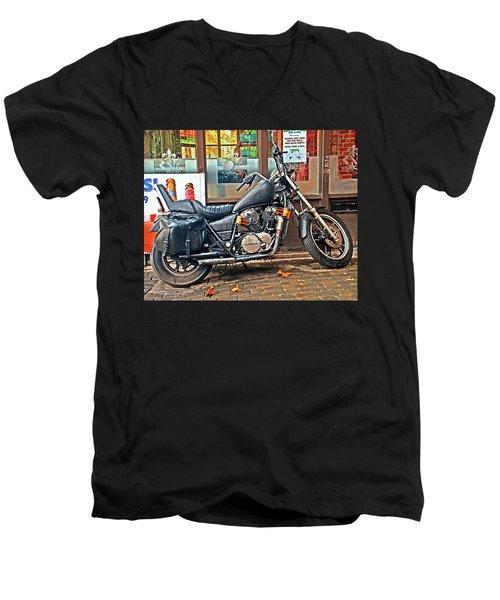 1983 Vt750 C Honda Shadow Men's V-Neck T-Shirt by Greg Sigrist