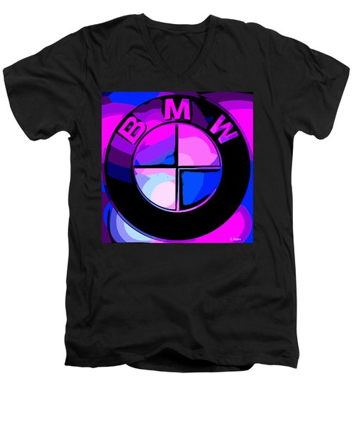BMW Men's V-Neck T-Shirt by George Pedro