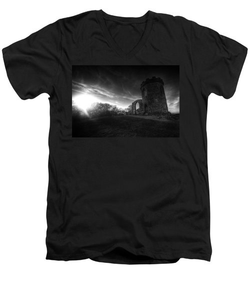 Bradgate Park At Dusk Men's V-Neck T-Shirt by Yhun Suarez