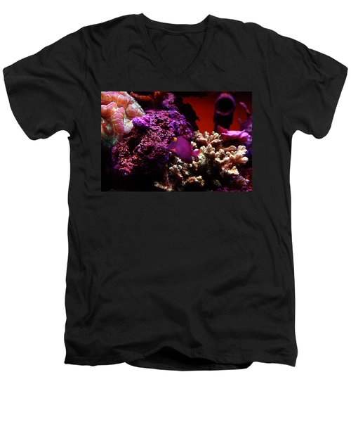 Men's V-Neck T-Shirt featuring the photograph Colors Of Underwater Life by Clayton Bruster