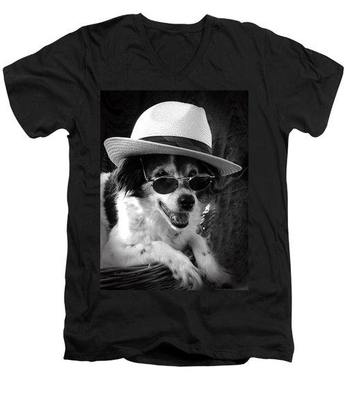 Cool Dog  Men's V-Neck T-Shirt