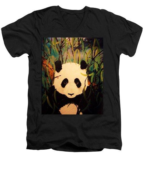 Endangered Panda Men's V-Neck T-Shirt