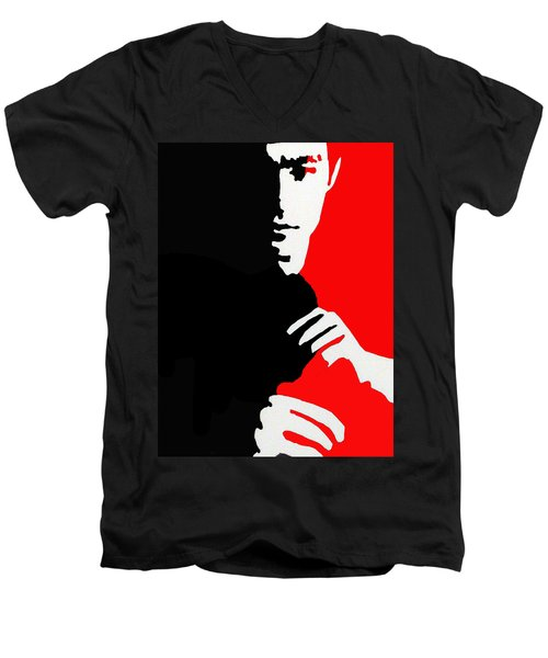 Enter The Dragon Men's V-Neck T-Shirt by Robert Margetts