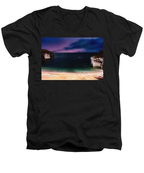 Evening On The Headland  Men's V-Neck T-Shirt