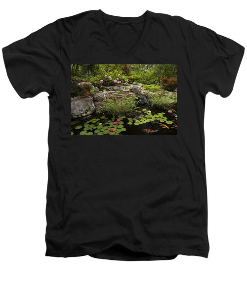 Garden Pond - D001133 Men's V-Neck T-Shirt