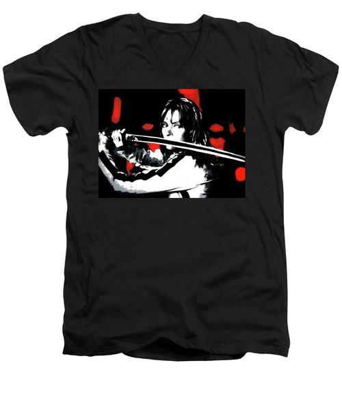 Kill Bill Men's V-Neck T-Shirt by Luis Ludzska