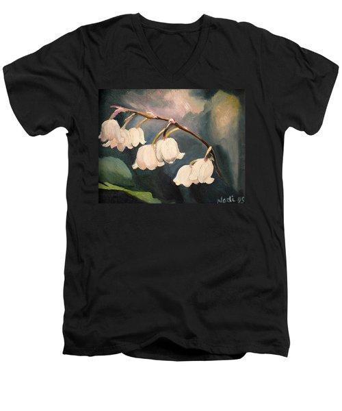 Lily Whites Men's V-Neck T-Shirt by Renate Nadi Wesley