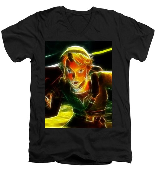 Magical Zelda Link Men's V-Neck T-Shirt