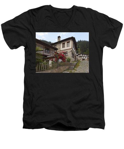 Shiroka Laka Village Men's V-Neck T-Shirt
