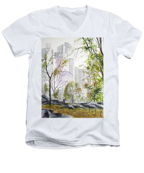 Central Park Stroll Men's V-Neck T-Shirt