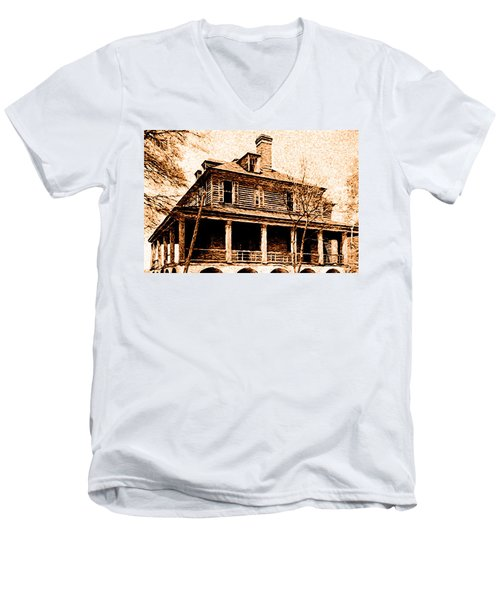 This Old House Men's V-Neck T-Shirt by Chuck Mountain