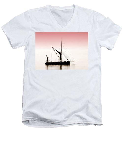 Coble Sailing  Against Pint Sky Men's V-Neck T-Shirt