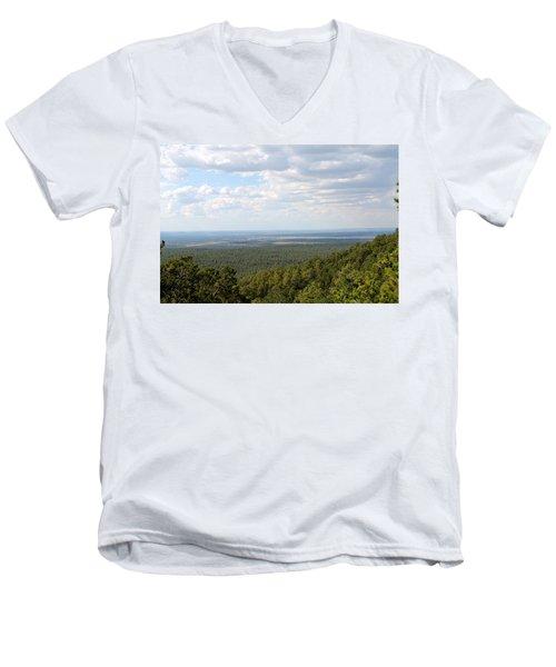 Overlooking Pinetop Men's V-Neck T-Shirt by Pamela Walrath