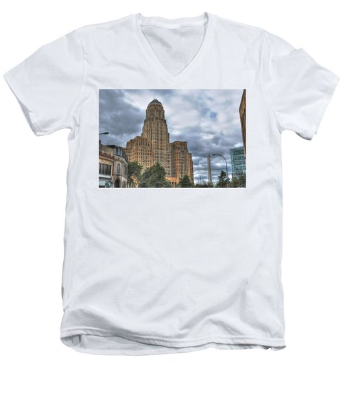 Men's V-Neck T-Shirt featuring the photograph Piercing The Heavens by Michael Frank Jr
