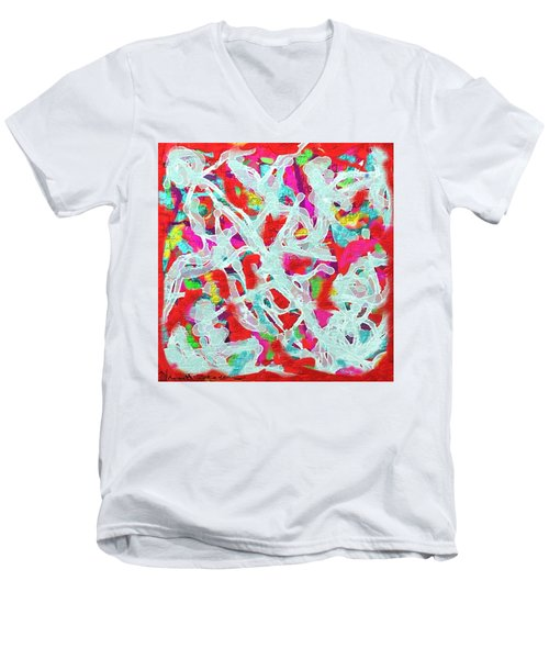 Sexy Men's V-Neck T-Shirt by Vannetta Ferguson