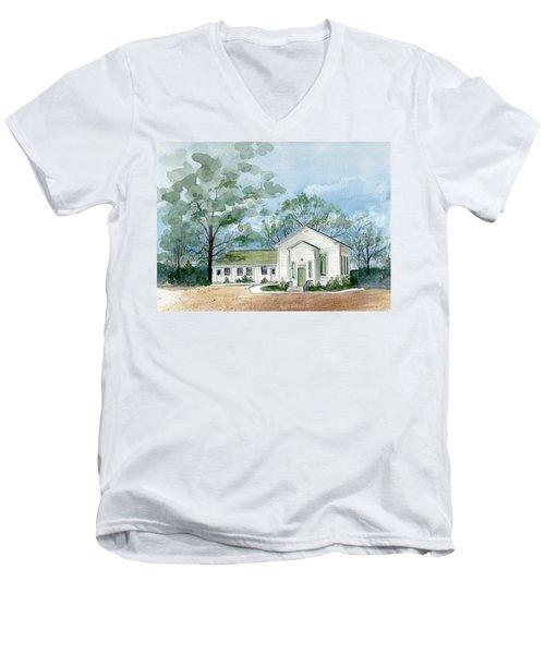 Sicklerville 1859 Church  Men's V-Neck T-Shirt
