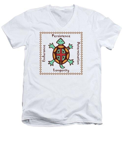 Turtle Animal Spirit Men's V-Neck T-Shirt