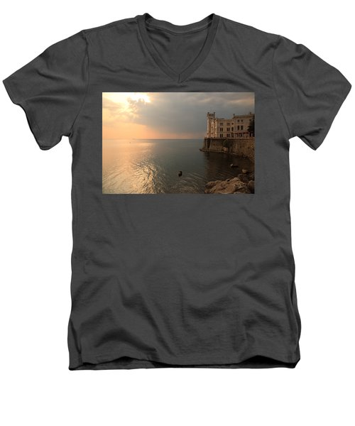 Miramare Sunset Men's V-Neck T-Shirt