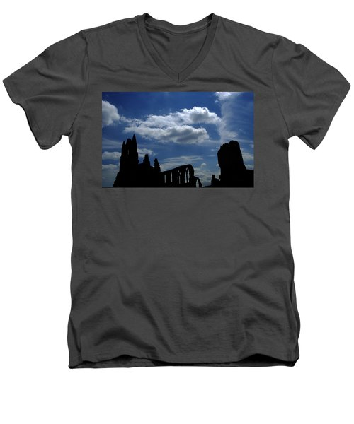 Abbey Skyline Men's V-Neck T-Shirt