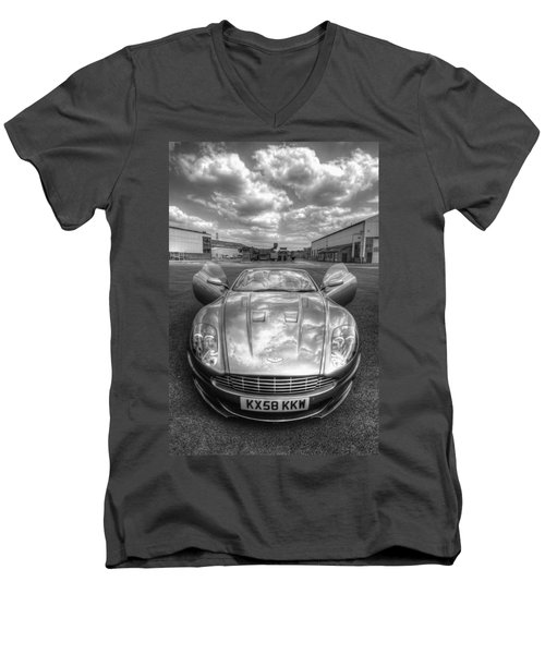 Aston Martin Dbs Men's V-Neck T-Shirt by Yhun Suarez