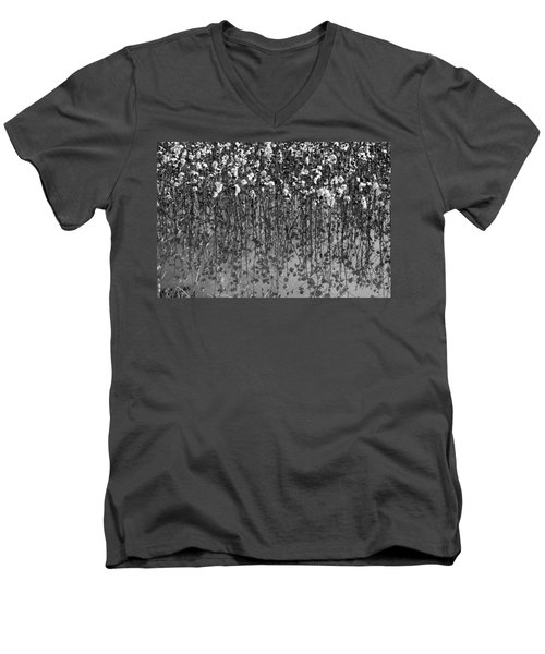 Cotton Abstract In Black And White Men's V-Neck T-Shirt