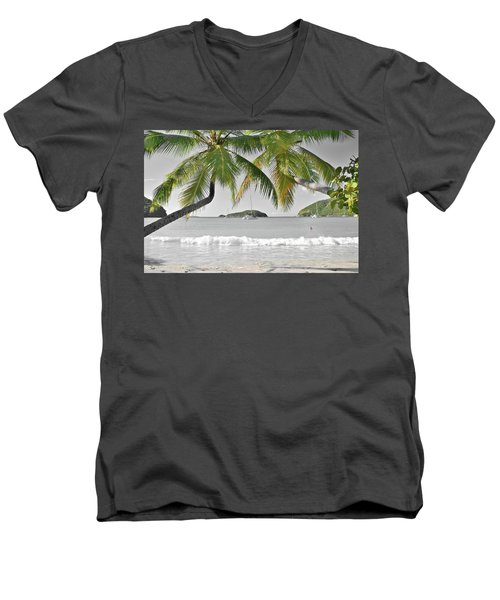 Men's V-Neck T-Shirt featuring the photograph Going Green To Save Paradise by Frozen in Time Fine Art Photography