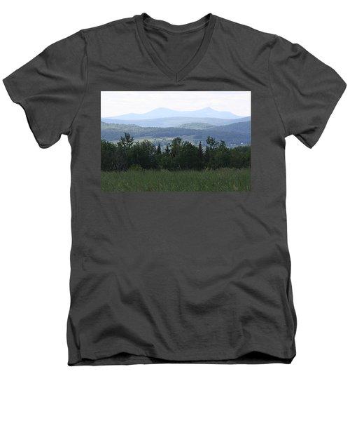 Jay Peak From Irasburg Men's V-Neck T-Shirt