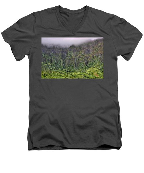 Ko'olau Waterfalls Men's V-Neck T-Shirt
