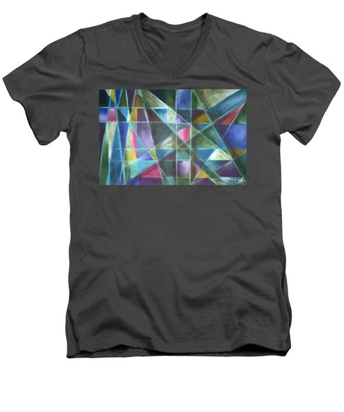 Light Patterns 2 Men's V-Neck T-Shirt