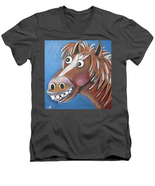 Mr Horse Men's V-Neck T-Shirt