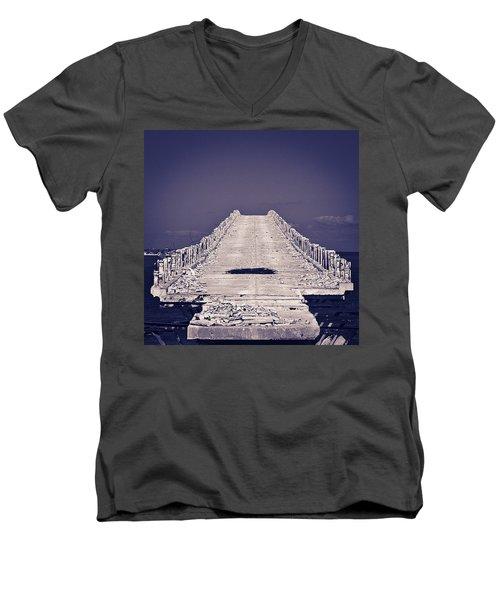 Overseas Railroad II Men's V-Neck T-Shirt