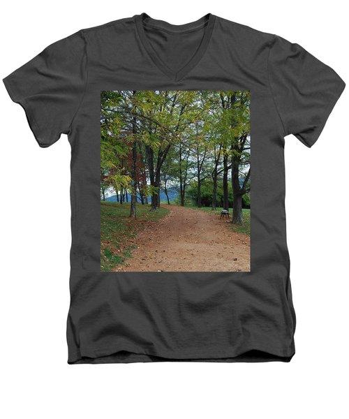 Pathway Men's V-Neck T-Shirt by Eric Liller