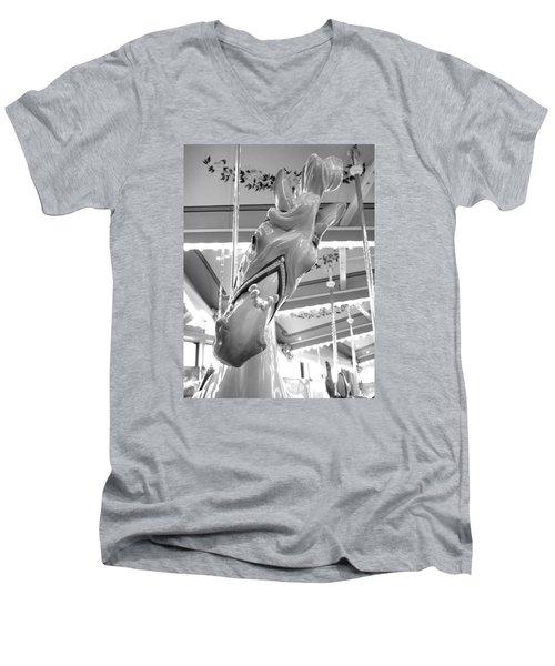 Men's V-Neck T-Shirt featuring the photograph Hello by Barbara McDevitt