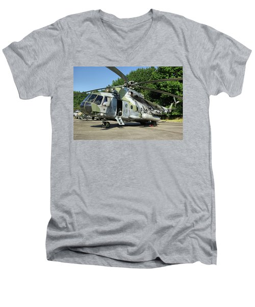 Mil Mi-17 Hip Men's V-Neck T-Shirt by Tim Beach